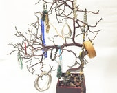 "19"" Red Jewelry Tree Accessory holder / Jewelry Organizer"