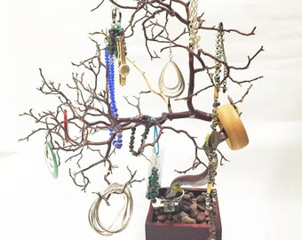"19"" Red Jewelry Tree Accessory holder / Jewelry Organizer"
