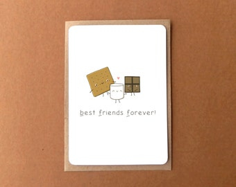 Greeting card - Best friends forever - smores