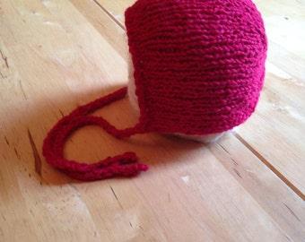 Newborn bonnet- Red