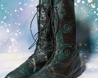 Green Boots Size 8 Womens