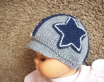 Newborn photo prop, Dallas Cowboys helmet hat, newborn knit hat,  newborn hat, newborn boy hat, newborn girl, photo props, newborn beanie