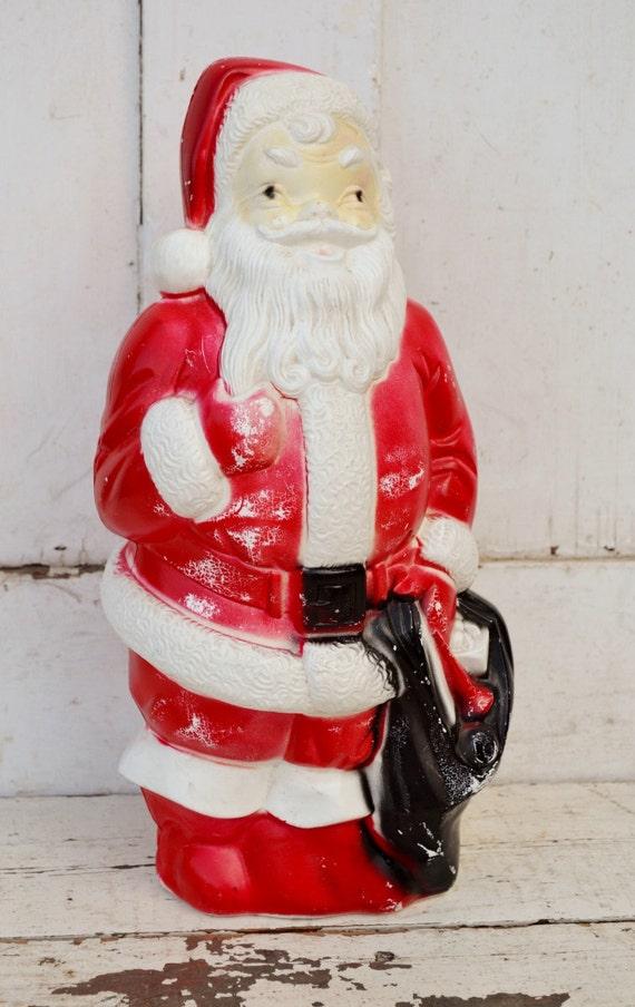 Empire plastics santa claus blowmold red white black indoor