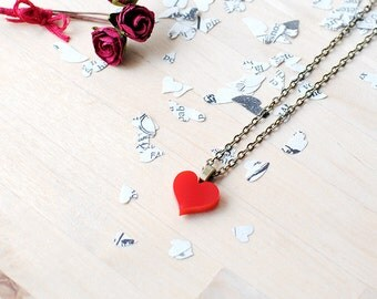 Red Heart Necklace | Queen Of Hearts | Valentines Gift | Nickel Free