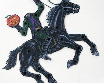 Headless Horseman Articulated Paper Doll - The Legend of Sleepy Hollow