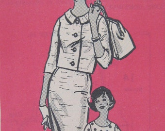1960s Jacket Skirt Blouse Pattern, Mail Order 4538, Womens 3 piece Suit Pattern, Slim or Pleated Skirt, Misses Size 12 Bust 32 UNCUT
