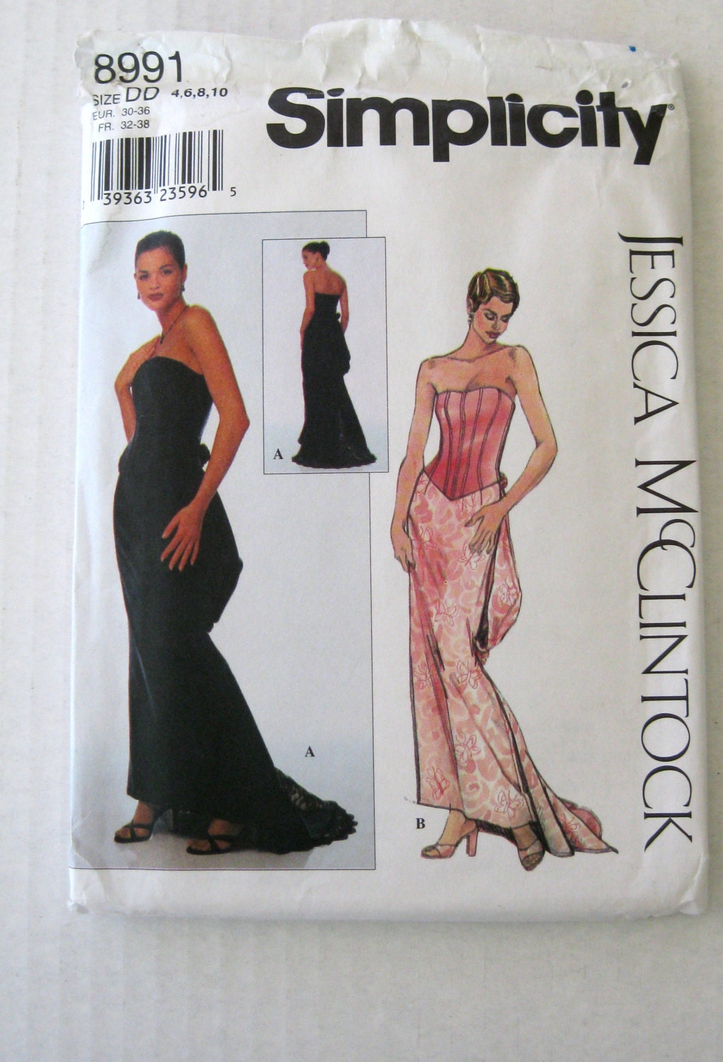 Turmec » strapless wrap dress pattern