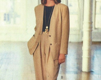 90s DKNY Womens Jacket, Shorts & Pants Vogue Sewing Pattern 2511 Size 6 8 10 Bust 30 1/2 to 32 1/2 UnCut Vogue American Designer Pattern