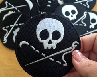 Sewing Skull Merit Badge / Patch