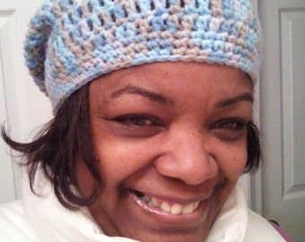 Assorted Handmade Crochet Slouch Hats - Handcrafted Crotchet Slouch Hats- Crochet Loops and Threads Yarns - Handcrafted Beanie Hats 22.50