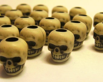 High Quality Antiqued Skull Beads Realistic 10mm Skulls 20pcs Destash