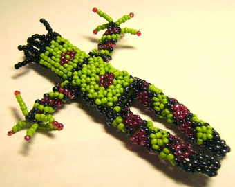VOODOO Doll XLarge Glass 3D Beaded Pendant Sew On or Hang