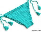 Turquoise Crochet Bikini Bottom Brazilian Bikini Swimwear Swimsuit 2016 Beach Wear Bathingsuit New Bikini Sexy Bikini senoaccessory