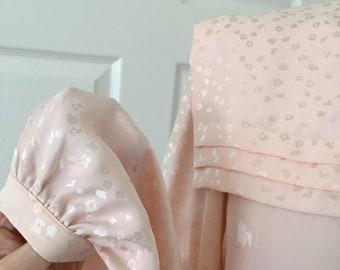 JOANIE CHAR pink blush silk blouse cherry blossom