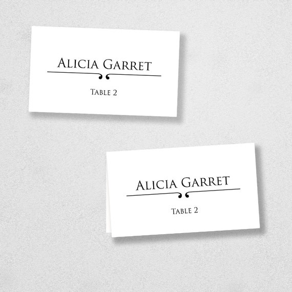 Items similar to avery place card template instant download escort card for word and pages for Avery printable place cards