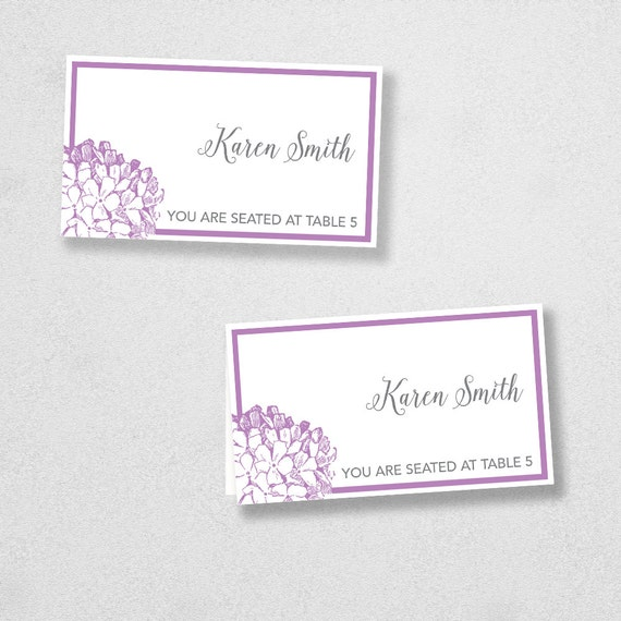 printable place card template instant download escort card