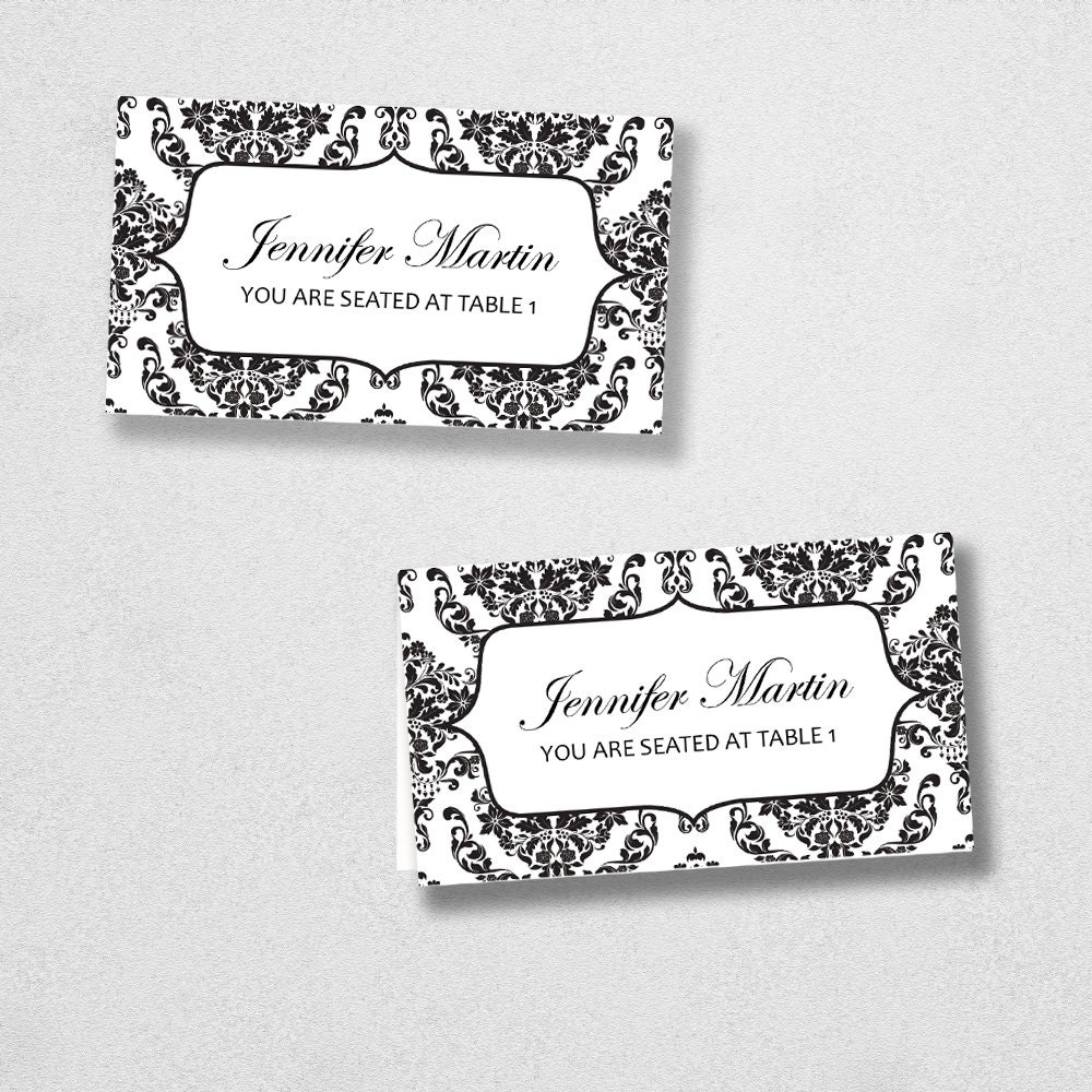 Avery Place Card Template INSTANT DOWNLOAD Escort Card by 43Lucy