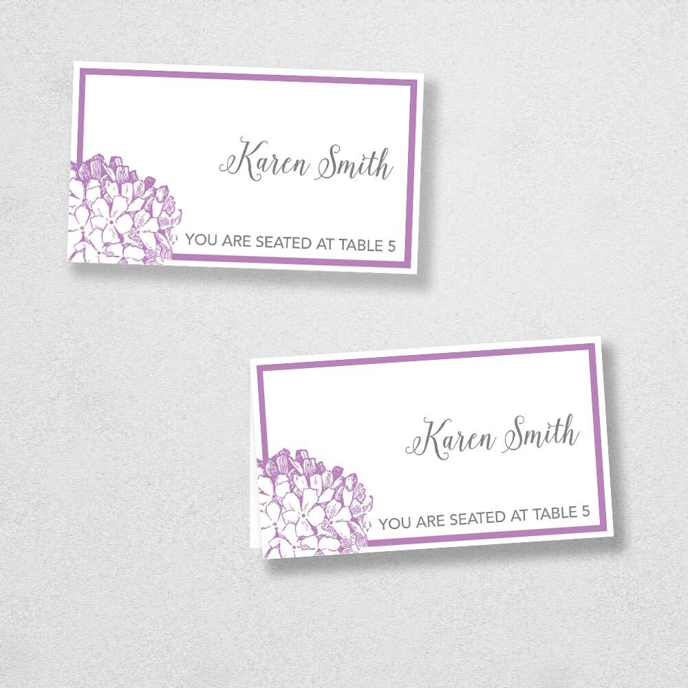printable place card template instant download escort card. Black Bedroom Furniture Sets. Home Design Ideas