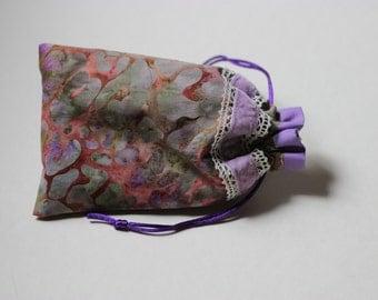 Lovely Lavender Leopard Tarot bag (small to medium)