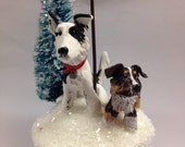 Custom Personalized Two Pet Ornament