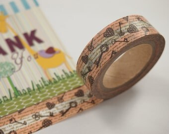 Vintage Key Heart Washi Tape (10M)