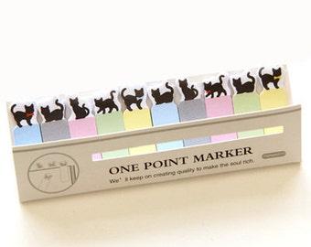 Mini Black Cat Sticky Notes / Stick Marker / Post-it