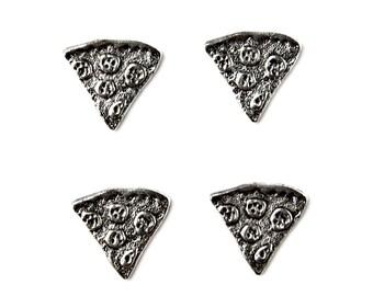 Pizza Tuxedo Shirt Studs - Shirt Buttons - Men's Jewelry - Gift Idea - Handmade - Gift Box Included