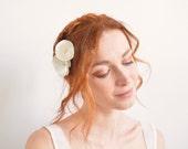 Off white flower bridal hair pins - Swarovski crystal rhinestones