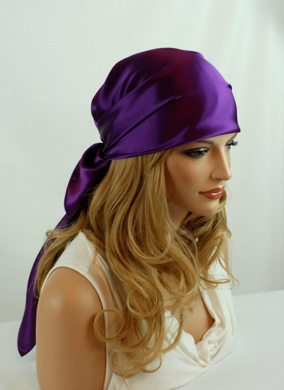 silk silk charmeuse scarf sleep or bandana scarf sizes plum