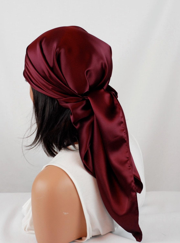 silk scarf sleep or bandana scarf sizes wine mulberry silk