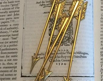 Long Brass Arrows (2 pc)