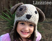 Little Doggie Crochet Beanie PDF Pattern - Puppy Dog - newborn, baby, kids, toddler - beanie, earflap, braids - Instant Digital Download
