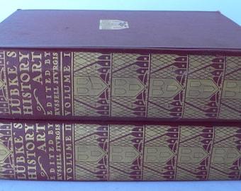 antique art books, Outlines of the History of Art, Lubke's History of Art, 1904, volume I & II from Diz Has Neat Stuff