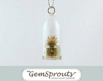 HOLIDAY SALE: GemSprouts - Stampferi Cactus Necklace with Ballchain
