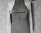 Vintage White Lace Bolero Jacket Wedding Bolero Medium
