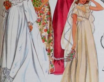 Uncut Vintage 1970s Wedding Dress Pattern Bridal Gown Bust 34 Butterick 6183