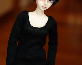 SD Clothes Black Long Sleeved Top For 1/3 BJD