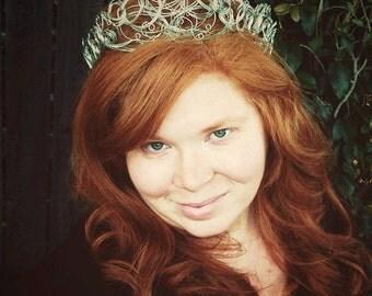 Wedding Silver Crown | Silver Crown | Bridal Tiara | Bohemian Crown | Renaissance Crown | Medieval Crown | Wedding Headpiece | Silver Tiara