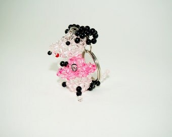 Beaded Mouse Keychain, Pink Mouse, Bead Mouse, Rat Keychain, Beaded Rat, Cute Mouse Keychain, Beadwork Mouse, Pink Mouse Key Chain, Pink