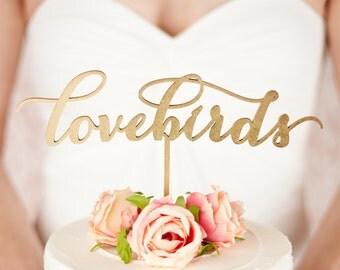 Love birds cake topper - wedding - Soirée Collection