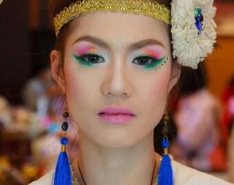 DyedTassels Earrings/boho/tassels/Whole Sale
