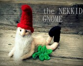 MATURE felted naked naughty gnome nudity, deluxe with felted fig leaf, funny gag gift, unique nude gift for bride, miniature, MADE  to ORDER