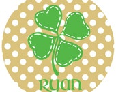 Personalized St. Patrick's Day Plate