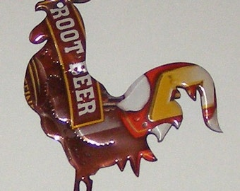 Rooster Magnet -  Mug Root Beer Soda Can (Replica)