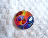 25mm Glass cabochon for beading and wirewrapping jewelry making