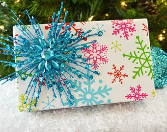 Bright Snowflakes Christmas Wrapping Paper