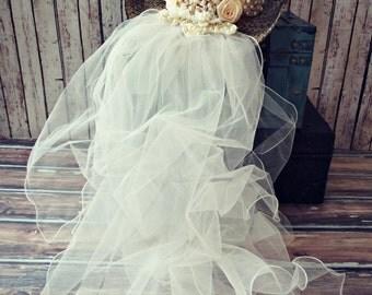 Cowgirl wedding hat-Western wedding-cowgirl wedding-white cowgirl hat-cowgirl bachelorette-rustic wedding-Bridal cowgirl hat