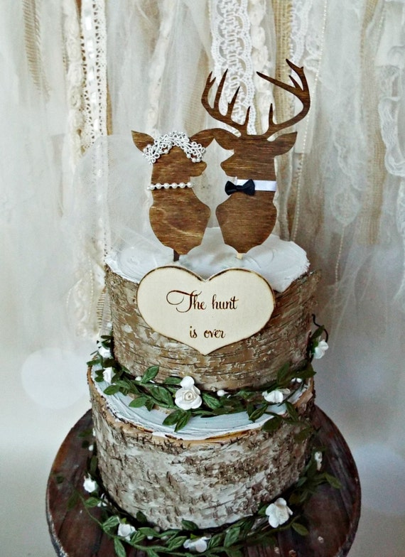 buck and doe wedding cake toppers deer buck doe wedding cake topper groom deer 12203