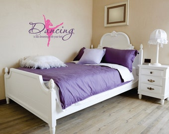 Dancing Decor - Wall Decal - Ballet Wall Decor - Girls Room Decor - Dancing Ballet Room Decal