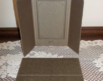 "1 Vintage Art Deco Tri-Fold Folding Picture Frame 4"" x 6"" Photo"